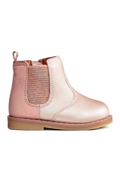 Lined Chelsea boots - Light pink - Kids | H&M 1