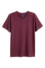 T-shirt à encolure ronde - Bordeaux - HOMME | H&M FR 2