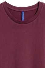 Round-necked T-shirt - Burgundy - Men | H&M 3