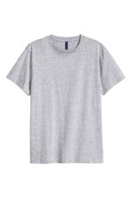 Round-necked T-shirt - Grey marl - Men | H&M CN 2