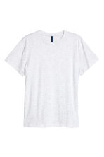 Round-necked T-shirt - Light grey marl - Men | H&M 2