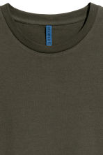 Round-necked T-shirt - Dark khaki green - Men | H&M CN 3