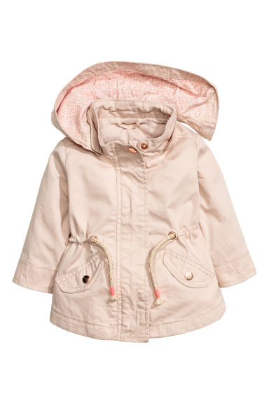 Cotton parka - Powder pink -  | H&M 1
