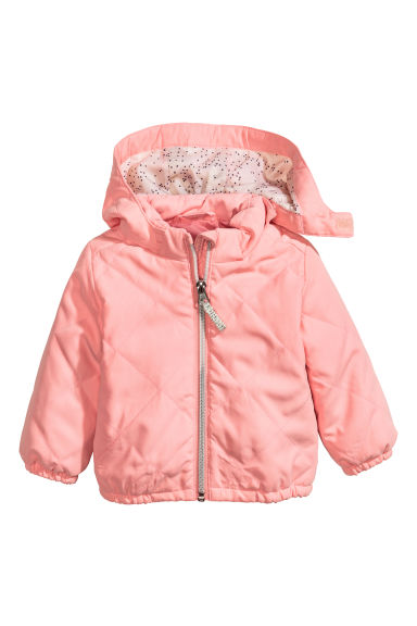 Quilted jacket - Light pink -  | H&M CN 1