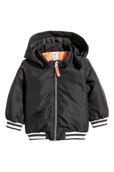 Lightly padded jacket - Black - Kids | H&M