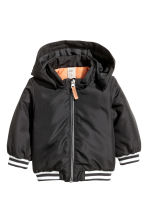 Lightly padded jacket - Black - Kids | H&M 1