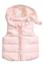 Padded gilet - Light pink - Kids | H&M CN 1