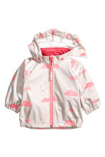 Waterproof jacket - Pink/Cloud - Kids | H&M CN 1