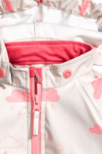 Waterproof jacket - Pink/Cloud - Kids | H&M CN 2