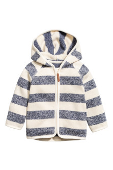 Knitted fleece hooded jacket