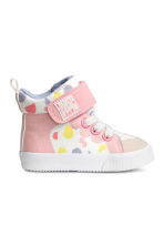 Patterned trainers - White/Light pink - Kids | H&M 1