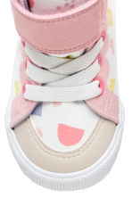 Patterned trainers - White/Light pink - Kids | H&M 3