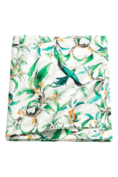 Patterned cotton tablecloth - White/Birds - Home All | H&M GB 1