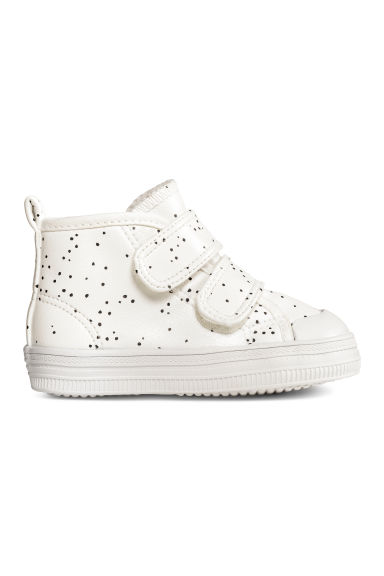 Lined trainers - Nat. white/Spotted -  | H&M CN 1