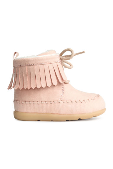 Moccasin ankle boots - Light pink - Kids | H&M CN 1