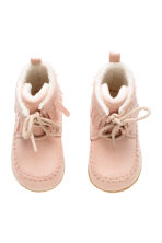Moccasin ankle boots - Light pink - Kids | H&M CN 2