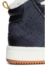 Pile-lined trainers - Dark blue - Kids | H&M 4