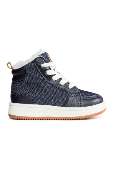 Pile-lined trainers - Dark blue - Kids | H&M 1