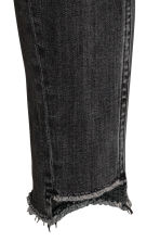Slim High Twisted Jeans - Black denim -  | H&M GB 4