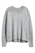 Oversized jumper - Grey marl - Ladies | H&M 2