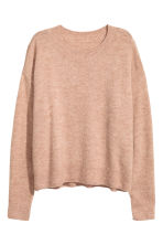 Oversized jumper - Beige marl - Ladies | H&M 2