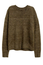 Oversized jumper - Khaki green marl - Ladies | H&M CN 2