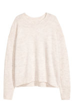 Oversized jumper - Light beige marl - Ladies | H&M GB 2