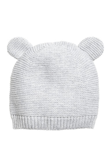 Cotton hat - Light grey - Kids | H&M CN