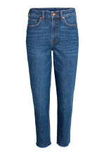 Vintage High Ankle Jeans - Dark denim blue -  | H&M 2