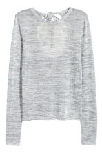 Fine-knit jumper - Grey marl - Ladies | H&M CN 2