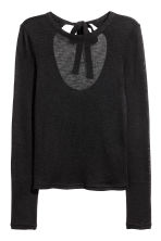 Top in maglia fine - Nero - DONNA | H&M IT 2
