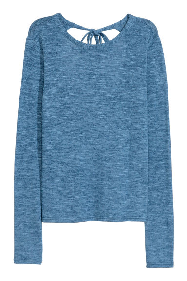 Fine-knit jumper - Blue marl - Ladies | H&M