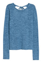Top in maglia fine - Blu mélange - DONNA | H&M IT 1