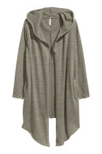 Hooded cardigan - Khaki green - Ladies | H&M 2