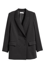 Double-breasted jacket - Black - Ladies | H&M CN 2