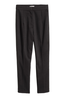 Ankle-length suit trousers