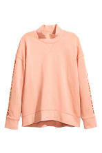 Turtleneck sweatshirt - Powder - Ladies | H&M CN 2