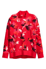 Turtleneck sweatshirt - Red/Patterned - Ladies | H&M CN 2