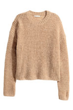 Chunky-knit wool-blend jumper - Beige marl - Ladies | H&M CN 2
