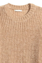 Chunky-knit wool-blend jumper - Beige marl - Ladies | H&M CN 3