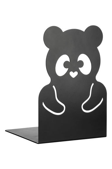 Metal bookend - Black/Panda - Home All | H&M CN 1