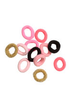 12-pack hair elastics - Gold - Kids | H&M CN 1