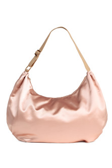 Satin hobo bag