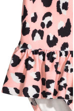 Swimsuit with a frill - Pink/Leopard print -  | H&M CN 2