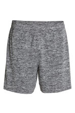 Sports shorts - Black marl - Men | H&M 2