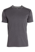 Sports top - Dark grey marl - Men | H&M 2
