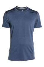 Sports top - Dark blue marl - Men | H&M 2