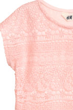 Top with lace - Light pink - Kids | H&M 4