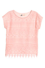 Top with lace - Light pink - Kids | H&M 2