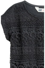Top with lace - Dark grey - Kids | H&M CN 3